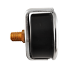 "25100600 Manómetro 2.5"" caja de ABS 1/4"" NPT inferior 600 psi-kg/cm2"