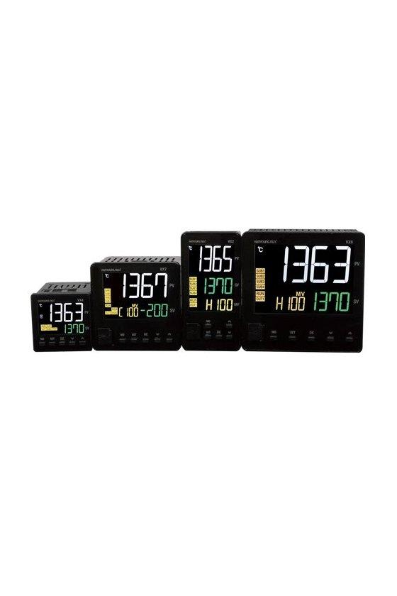 VX4UMMAA1 Control de temperatura digital LCD 48x48mm entrada universal  2 salidas a relevador 1 salida de alarma de 100-240vca