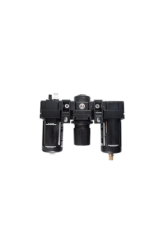 """AC400006  Unidad de Mant. - FRL´s baja presión Filtro-Regu-Lubri de aire de 3/4"""" NPT CNX de man. 1/4. Rango de reg. 7 a 123 Psi."""