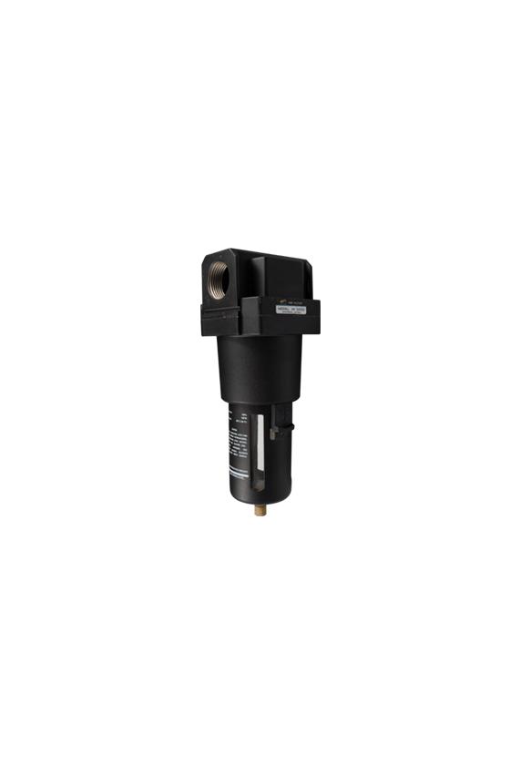 """AF500010 Filtro de aire baja presión de 1"""" NPT  hasta 145 psi filtrado de 25 um.  temp. de 5 a 60 °C 750 lt/min."""