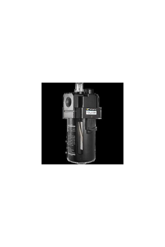 """AL400006 Lubricador de aire baja presión con CNX de 3/4""""NPT vaso de PC. capacidad de 25 cm3 MAWP hasta 145 psi 800 l/min."""