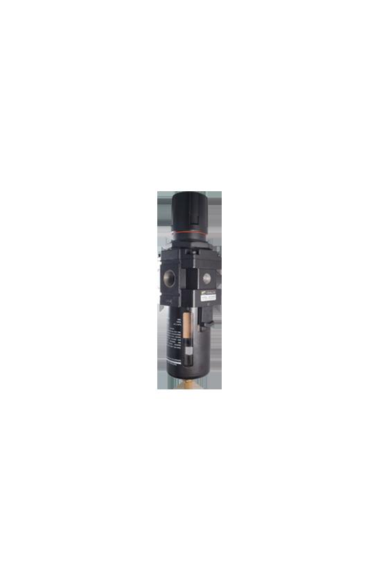 "AW400004 Filtro-regulador de aire baja presión de 1/2"" NPT vaso de PC. precisión de filtrado 25 micrómetro 550 l/min"