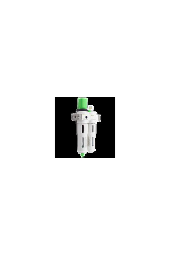 "OUMINI14 Unidad de Mant. FRL´s alta presión F+R+L de 1/4"" . CNX a manómetro de 1/8"" NPT. filtrado de 40 um."