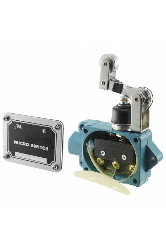 BAF1-2RN28-RH Interruptor en caja de alta capacidad, Series BAF/DTF MICRO SWITCH, Actuador de brazo con rodillo superior