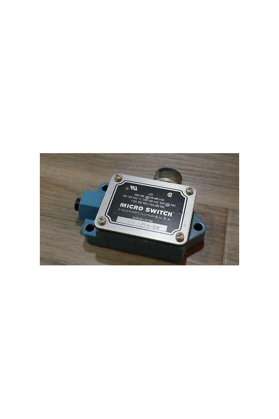 BAF1-2RN-RH Interruptor en caja de alta capacidad, Series BAF/DTF MICRO SWITCH, Actuador con botón superior