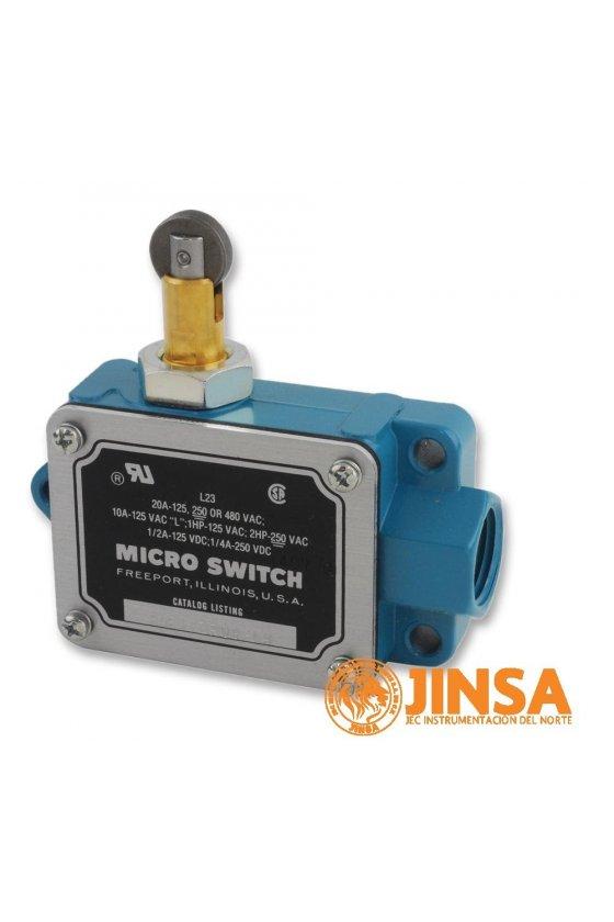 BAF1-2RQN8-LH Interruptor en cajas de alta capacidad Series BAF/DTF MICRO SWITCH, Botón superior con rodillo