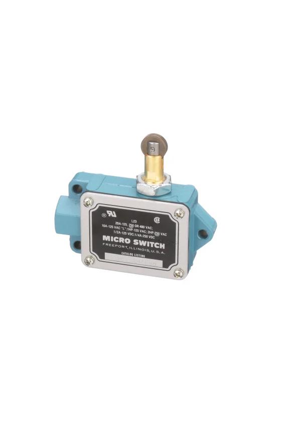 BAF1-2RQN8-RH Interruptor en cajas de alta capacidad Series BAF/DTF MICRO SWITCH, Botón superior con rodillo