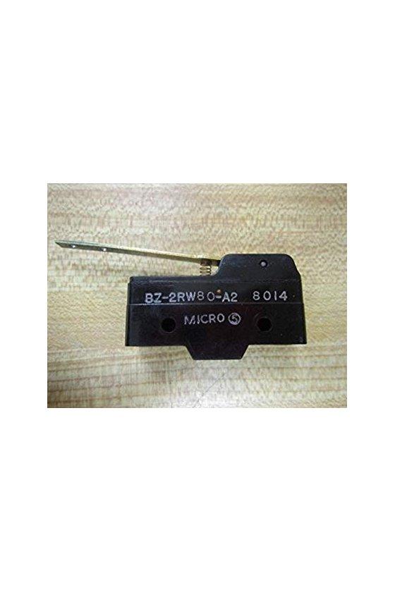 BZ-2RW80-A2 Interruptor básico grande de primera calidad Serie BZ, Circuito de un polo doble tiro, 15 A a 250 VCA