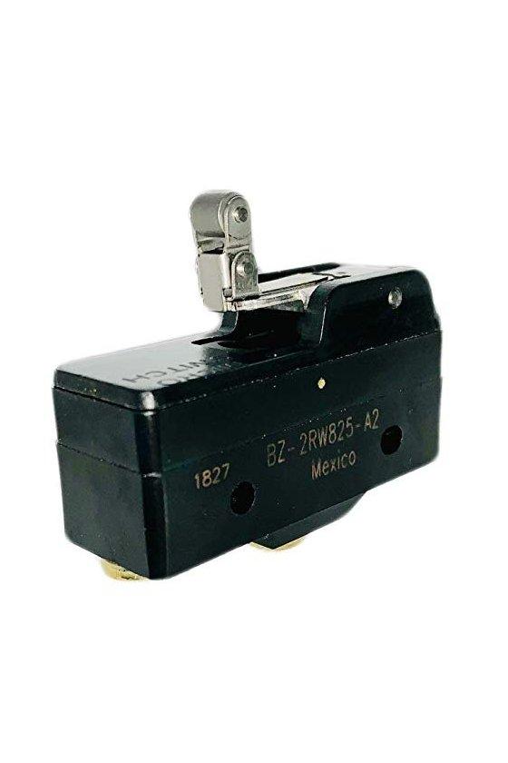 BZ-2RW825-A2 Interruptor básico grande de primera calidad Serie BZ, Circuito de un polo doble tiro, 15 A a 250 VCA
