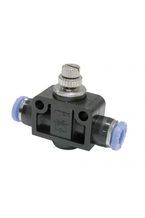"""NSF18 Regulador de flujo con entrada y salida para manguera rango de presión de trabajo 0-150 psi. (1/8"""")"""