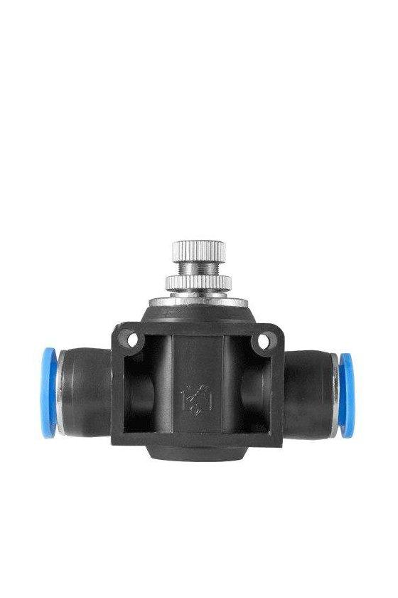 """NFS38 Regulador de flujo con entrada y salida para manguera rango de presión de trabajo 0-150 psi. (3/8"""")"""