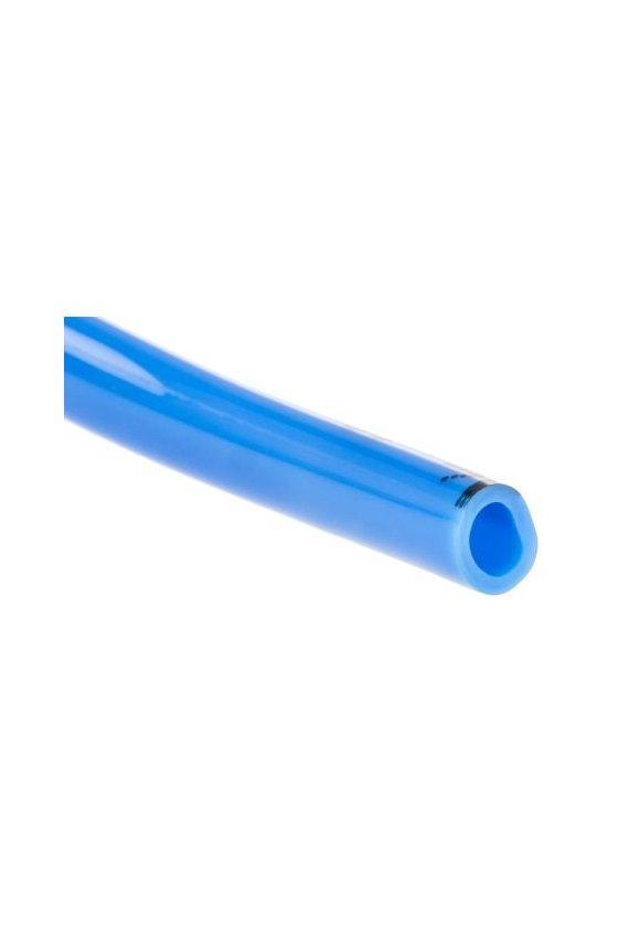 """PU12 Manguera de poliuretano en color azul. rango de operación a 116 psi presión de explosión de 290 psi. (1/2"""")"""