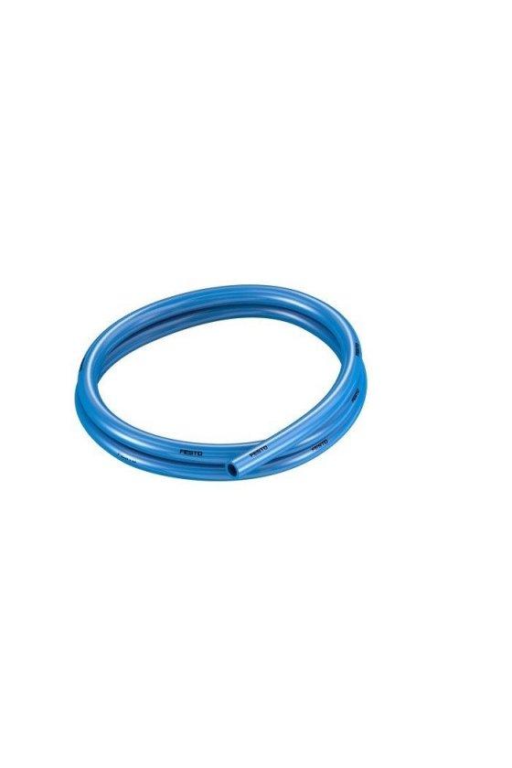 "PU4MM Manguera de poliuretano en color azul. rango de operación a 116 psi presión de explosión de 290 psi. (4MM"")"