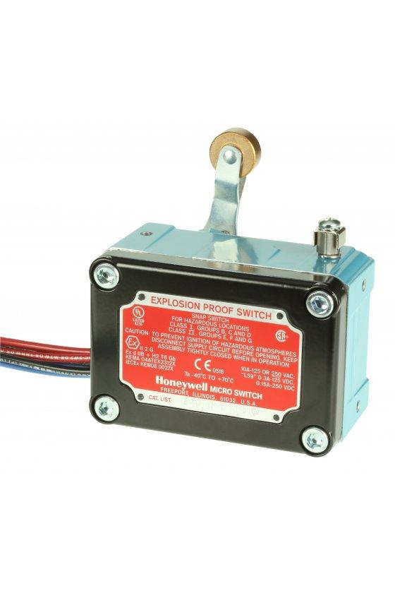 EXD-AR-3 Interruptores límite a prueba de explosiones Serie EX MICRO SWITCH, Eje lateral giratorio