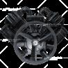 TX200 Bomba de Aire alta presión (20 HP). 4 cilindros  2238 L/min (79.1 C.F.M)  1000 R.P.M. Max. 200 psi Hierro fundido