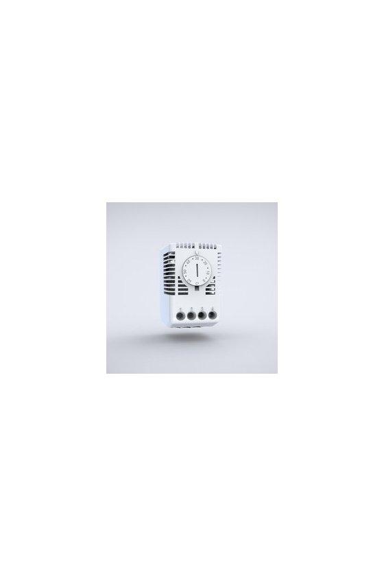 ETR201 Termostato ajustable contacto normalmente abierto ajuste de 0-60° IP20