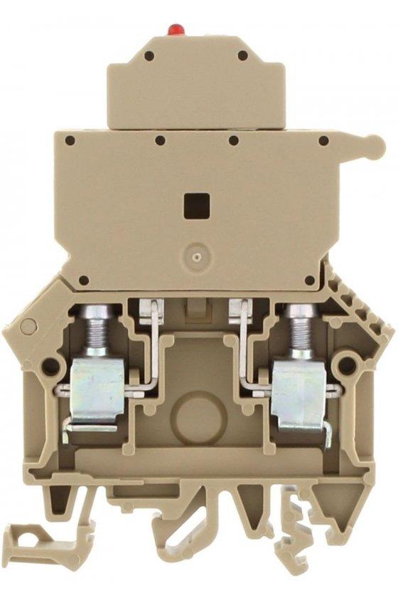 1104.2 SIK 10/LED(Rojo)/20-30V DC/40-60V AC Beige Clemas portafusibles