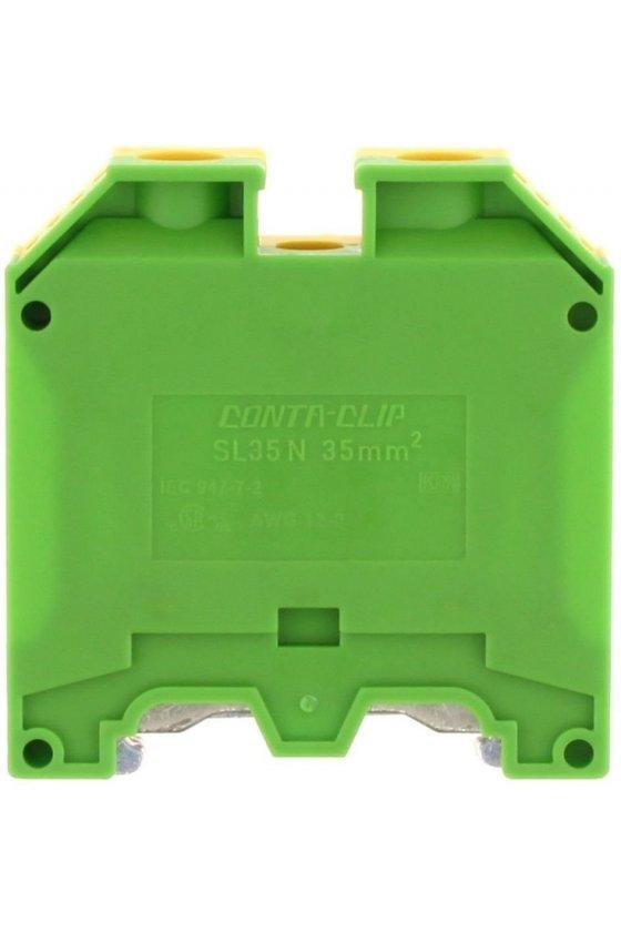 1534.2 SL 35/35/N  35mm/12-2 AWG Verde-Amarillo Clemas de tierra