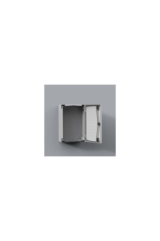 "UCP640 Gabinete ""Uniplast"" poliéster reforzado c/fibra de vidrio 615x415x230mm IP66/NEMA 4 RAL7035"