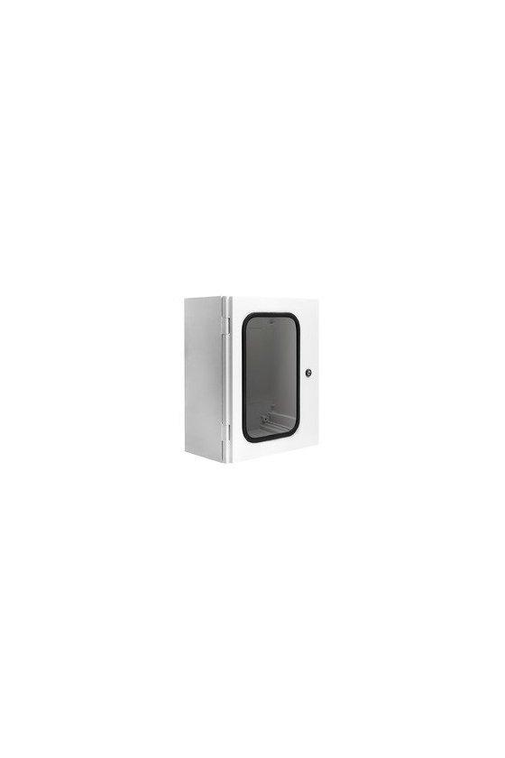 "UCPT1080 Gabinete ""Uniplast"" poliéster ref. c/fibra de vidrio 1000x800x300mm pta. trans. IP66/NEMA 4 RAL7035"