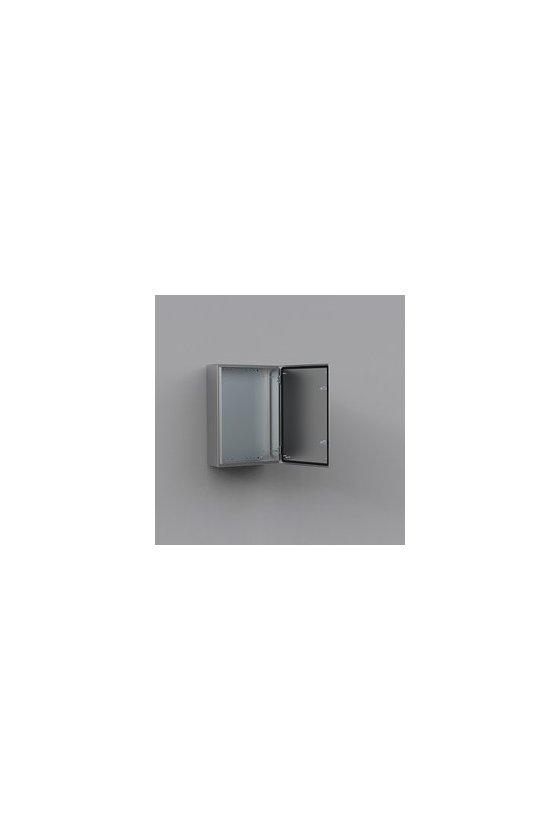 ASR0243615 Gabinete fijación mural de acero inoxidable AISI-304 240x360x150mm puerta simple IP66/NEMA 4X