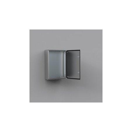 ASR0604021 Gabinete fijación mural de acero inoxidable AISI-304 600x400x210mm puerta simple IP66/NEMA 4X