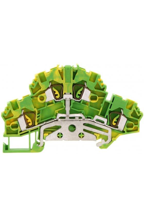 3567.2 Tipo ZSLD 2,5 Verde/Amarillo Clemas de tierra