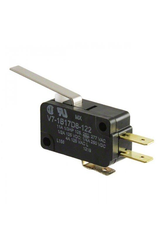 V7-1B17D8-048 V7-1B17D8-207 Interruptor básico miniatura Serie V7 MICRO SWITCH, Circuito de un polo doble tiro, 11 A a 277 VCA