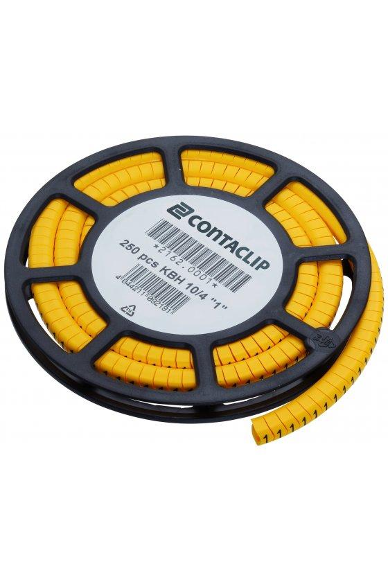 """2162.0001 KBH 10/4  """"1"""" Marcador de cable (250 piezas)"""