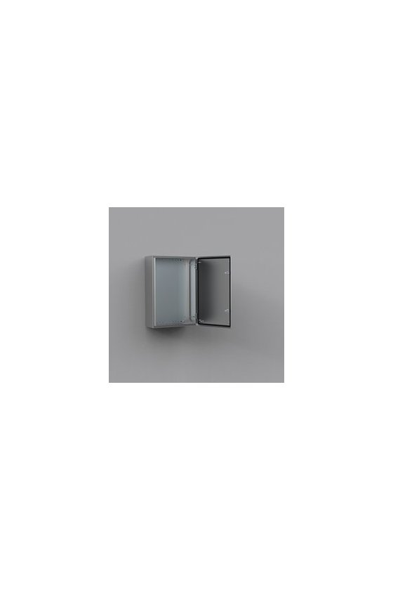 ASR1208040 Gabinete fijación mural de acero inoxidable AISI-304 1200x800x400mm puerta simple IP66/NEMA 4X