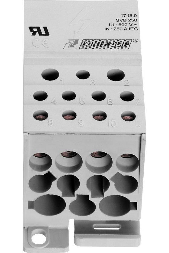 1743.0 SVB 250 LG 12 conexiones gris Cuadro de distribución