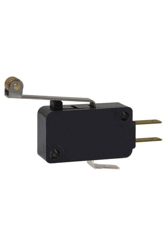V7-1C17D8-207 Interruptor básico miniatura Serie V7 MICRO SWITCH, Circuito de un polo doble tiro, 11 A a 277 VCA