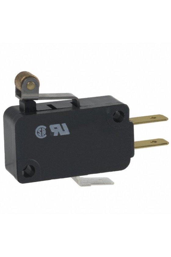 V7-2B17D8-201 Interruptor básico miniatura Serie V7 MICRO SWITCH, Circuito de un polo doble tiro, 11 A a 277 VCA