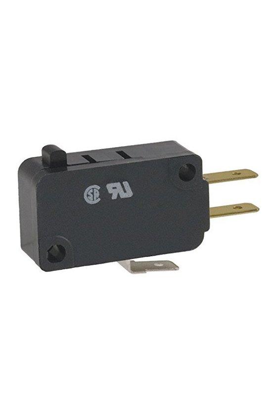 V7-7B17D8 Interruptor básico miniatura Serie V7 MICRO SWITCH, Circuito de un polo doble tiro, 11 A a 277 VCA
