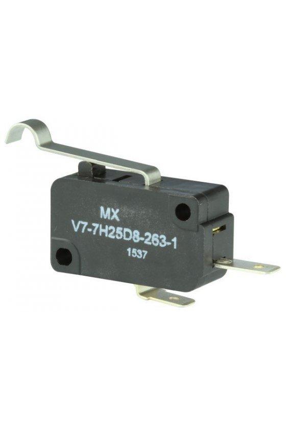 V7-7H25D8-263-1 Interruptor básico miniatura Serie V7 MICRO SWITCH, Circuito de un polo doble tiro, 11 A a 277 VCA