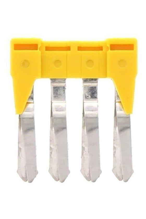 17203.8 SQI 2,5/4 Amarillo Conector cruzado aislado