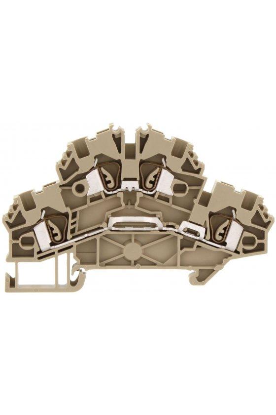 3562.2 ZRKD 2,5 Beige Clema de doble piso  Cage Clamp (conexión de muelle)