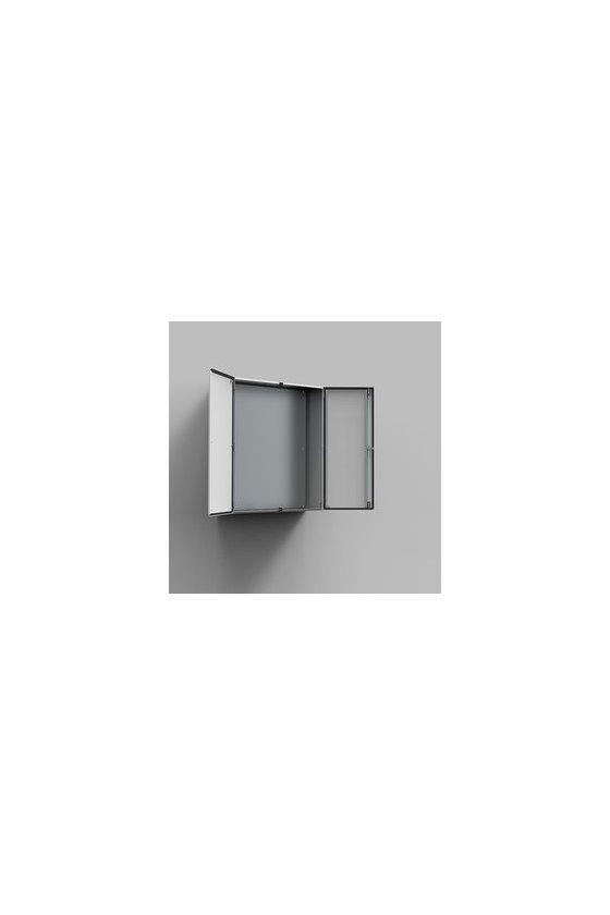 MAD801230R5 Gabinete fijación mural chapa de acero 800x1200x300mm puerta doble IP55/NEMA 12 RAL7035