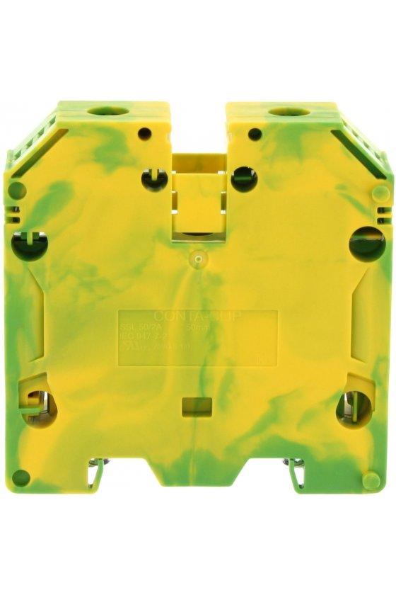 17158.2 SSL 50/2A  Clema de paso amarilla/Verde