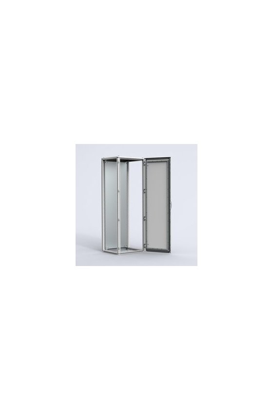 MCS20088R5 Gabinete autosoportado chapa de acero 2000x800x800mm puerta simple IP56/NEMA 4 RAL7035