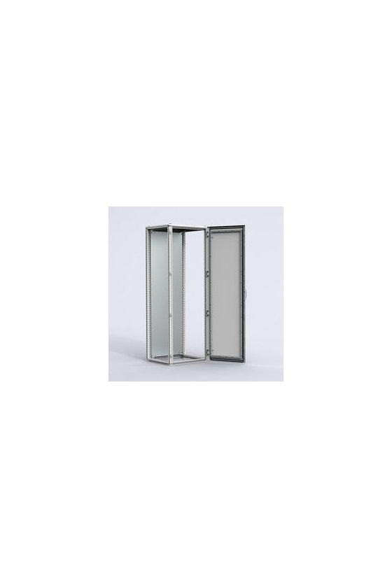 MCS22088R5 Gabinete autosoportado chapa de acero 2200x800x800mm puerta simple IP56/NEMA 4 RAL7035