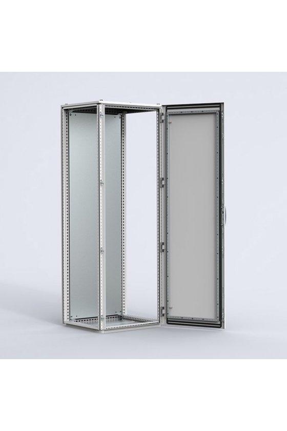 MCS18065R5 Gabinete autosoportado chapa de acero 1800x600x500mm puerta simple IP56/NEMA 4 RAL7035