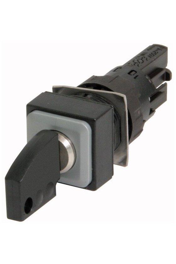 72384 Actuador accionado por llave, 3 posiciones, negro, momentáneo - Q25S3R-A6