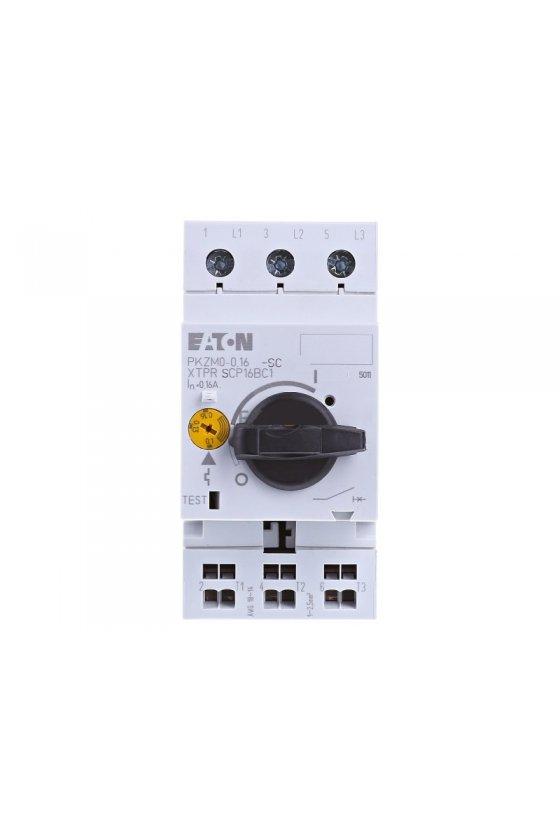 72730 Interruptor automático de protección del motor, 3p, Ir - 0.1-0.16A, conexión por tornillo PKZM0-0,16