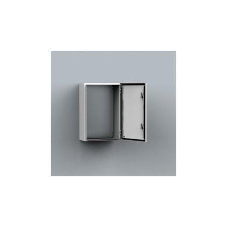 MAS0302521R5 Gabinete fijación mural chapa de acero 300x250x210mm puerta simple IP66/NEMA 4 RAL7035