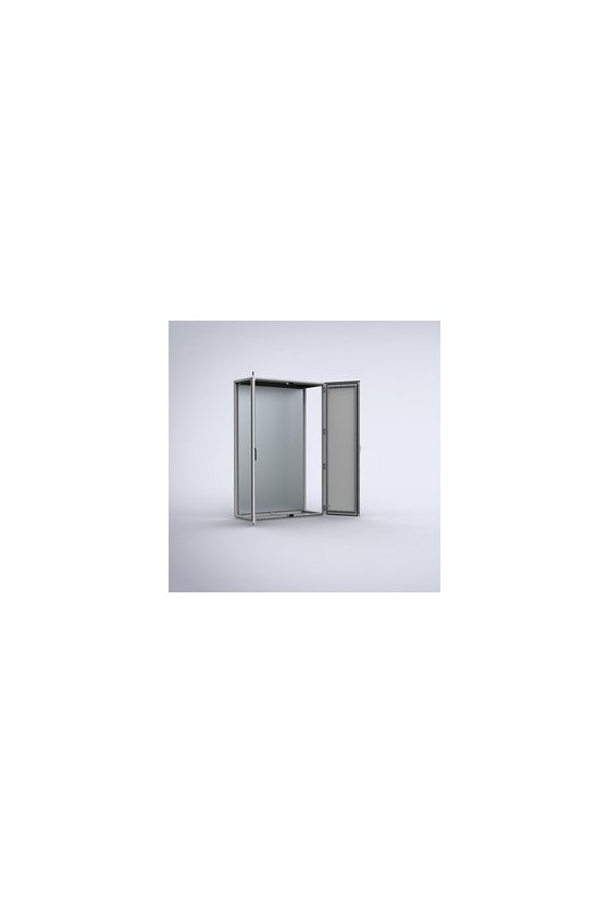 MCD20126R5 Gabinete autosoportado chapa de acero 2000x1200x600mm doble puerta IP55/NEMA 12 RAL7035