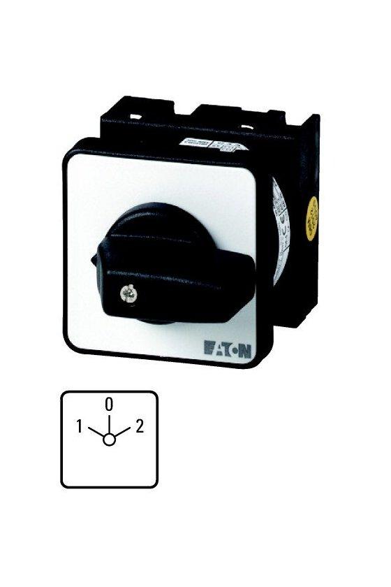 79065 Interruptor de encendido y apagado, P1, 32 A, montaje empotrado, 3 polos, con empuñadura negra y placa frontal - P1-32/E