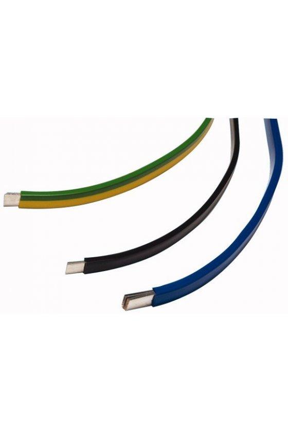 81275 Tira de cobre, estañado, 250 A, 6x16x0.8 mm, verde / amarillo - CU-BAND6X16X0,8-GNYE