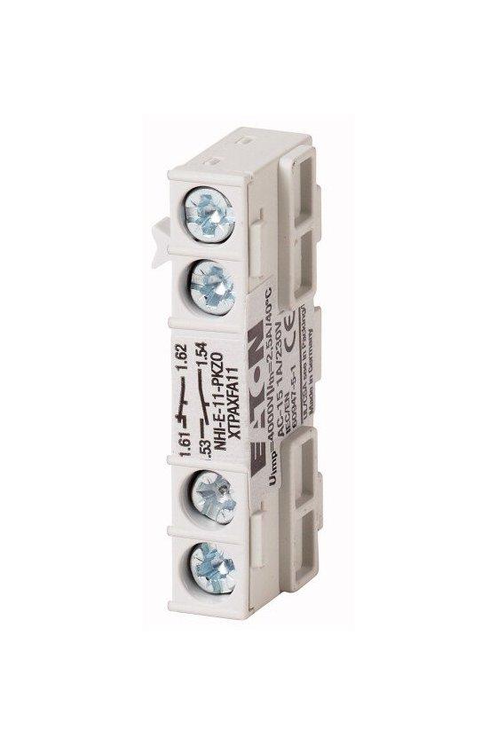 82882 Contacto auxiliar estándar, 1N / O + 1N / C, montaje empotrado, conexión por tornillo - NHI-E-11-PKZ0