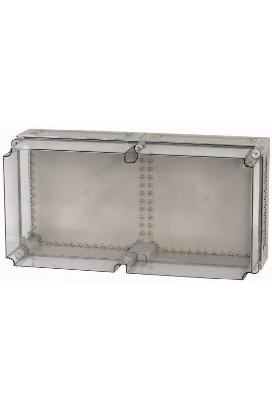 84341 Tapa, + puerta, gris ahumado transparente, HxWxD-375x375x25mm - D125-CI44/T